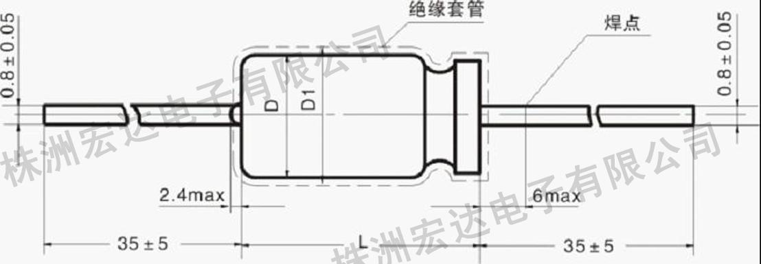 电容器的外形尺寸和最大重量